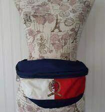 Vintage 90s Tommy Hilfiger Fanny Pack Big Flag Patch Navy Blue Retro Side Bag