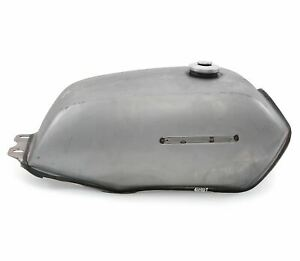 The Manta Cafe Racer Gas / Fuel Tank - Raw Steel Unpainted - Motorcycle Retro