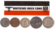 5 DEUTSCHES REICH COINS 1871-1945: GERMAN EMPIRE, WEIMAR, NAZI GERMANY WWI WW2