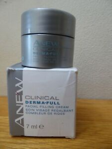 AVON ANEW ~ 2 x CLINICAL DERMA-FULL FACIAL FILLING CREAM ~ 2 x 7ml ~ NEW IN BOX