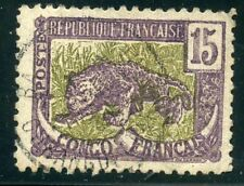 STAMP / TIMBRE COLONIES FRANCAISES OBLITERE CONGO N° 32 PANTHERE