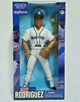 "ALEX RODRIGUEZ - Mariners MLB Starting Lineup SLU 1998 12"" Fully Poseable Figure"