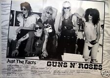 """GUNS N' ROSES """"JUST THE FACTS"""" POSTER FROM ASIA - Information About The Band"""