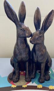 Sainsbury's Home Rabbit / Hare Resin Ornament / Brass Effect Sculpture