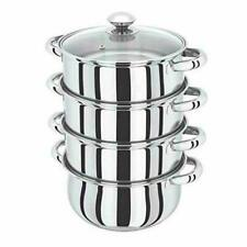 Denny International 4 Tier Induction Hob Stainless Steel Cookware Steamer Set - 4524