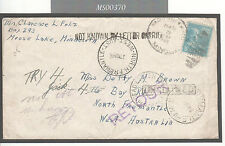 MS370 1946 USA to Australia Mail/Not Known by letter carrier/Returned