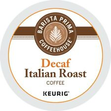 Barista Prima Coffeehouse DECAF Italian Roast 24 to 144 K cups Pick Any Size