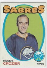 1971-72 TOPPS HOCKEY ROGER CROZIER #36 SABRES EX+ *60238