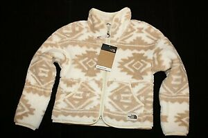 NWT GIRLS YOUTH THE NORTH FACE VINTAGE WHITE CAMPSHIRE CARDIGAN ZIP JACKET SZ L
