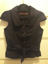 Pretty Cute black jacket top with belt size 8