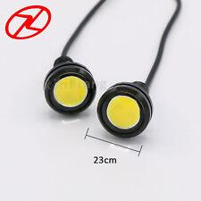2PCS Waterproof LED Eagle Eye DRL Daytime Running Light 23MM Tail Backup Lamp 3W
