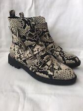 New SCHUH Snake Print Strappy Studded Ankle Boots - UK Size 5 / EU 38
