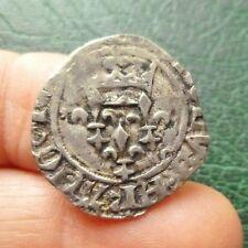 Charles VI - Gros dit Florette - Point 7e : Angers - 1417  (1ère ou 2e Emission)