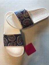 Crocs Women's Size 8 Vera Bradley Sloane Slide on Sandals Paisley