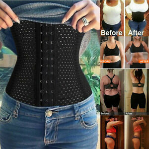 Women's Waist Trainer Corset Weight Loss Steel Boned Tummy Control Body Shaper