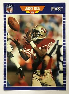 Jerry Rice San Francisco 49ers 1989 ProSet Football Cards Promtional Poster