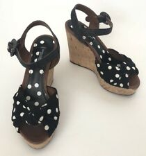 Dolce&Gabbana Women Shoes Size 35 NIB Wedges Polka Dot