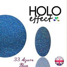 HOLO MERMAID EFFECT NAIL ART POWDER  GEL & ACRYLIC Holographic Azure Blue 33