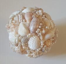 """Handmade Seashells Ornaments 3"""" Orb Beach Wedding Table Decor Beach Decor"""