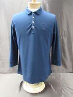 Tommy Hilfiger men's size XXL 2XL long sleeve polo navy blue shirt