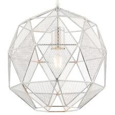Hanging Ceiling Pendant Light –CHROME– Geometric Lamp Shade Bulb Holder Fitting
