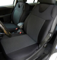 2 Grey Front Vest Car Seat Covers for Fiat Honda