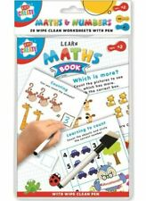 Learn Maths to Count Write Add Numbers Educational Wipe Clean Book A5 Size