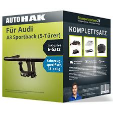 Anhängerkupplung abnehmbar für AUDI A3 Sportback +E-Satz Kit NEU