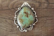 Navajo Sterling Silver Turquoise Pendant Albert Cleveland