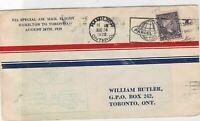 special airmail flighthamilton to toronto 1928 stamps cover ref 13167
