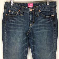 The Limited Womens Capris 4 Denim Jeans Blue Drew Capri Flap Pockets Cropped T14