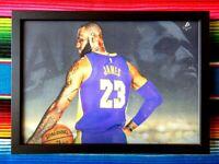✺Framed✺ LEBRON JAMES LA Lakers NBA Basketball Poster - 62cm x 44.5cm x 3cm
