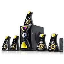 NEW Befree Sound 5.1 Channel Surround Sound Bluetooth Speaker System- Yellow