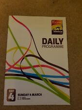 2018 IAAF World Indoor Athletics Championships Daily Programme: Day 4