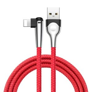 iPhone Charging USB Cable Sharp-Bird Angled Mobile Games Lead Red - 2M