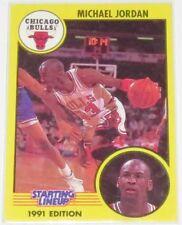 1991 Michael Jordan Chicago Bulls Kenner Starting Lineup 'Dribbling' Card #13 NM
