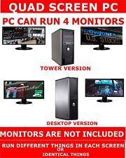 DELL Core 2 QUAD Computer PC-possono eseguire 4 Monitor Schermo QUAD Stock Trading PC