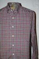 EUC Peter Millar Pink & Gren Gingham Plaid Button Front LS Casual Shirt Sz XL