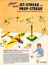 1966 ADVERT Kenner Toy Jet Streak Prop Streak Jet Plane Battery Operated RC