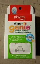 Playtex Diaper Genie Carbon Filters Refill Tray White Pack of 4