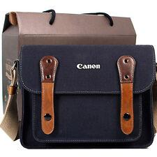 Canon T5i T4i T3i T2i T1i T5 T3 Canvas Camera Case Bag Shoulder Strap Navy i