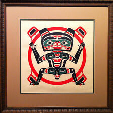 Jerry Smith (Native Canadian) - Signed, Numbered Serigraph - Grizzly In Sun