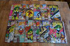 Sensational She-Hulk #1 2 3 4 5 6 7 8 9 10 11 12 (Marvel, 1989-1990)Lot of 12 NM