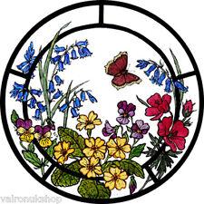 Vitral arte estático se aferran Woodland Flores