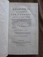J.B. DE VOLX.Citoyen Français. COUP D'OEIL POLITIQUE SUR L'EUROPE. AN VIII.T2/2