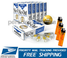 NIC-OUT Super Cigarette Filters Less Tar 10 Packs (300 Filters) ~3 Free Lighters