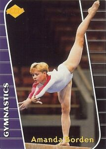(138) AMANDA BORDEN 2000 NON-GLOSSY Gymnastics LOT