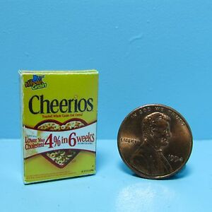 Dollhouse Miniature Replica Box of Cheerios Breakfast Cereal G014