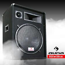 "Malone Pw-1522 DJ PA Passive Speaker 800w 3 Way 15"" Bass Party Mobile Disco"