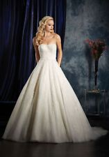 995 ALFRED ANGELO  SAPPHIRE IVORY/LT GOLD/SILVER  SZ 10 $1650 WEDDING GOWN DRESS